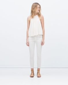 Image 1 of BRAIDED NECKLINE TOP from Zara