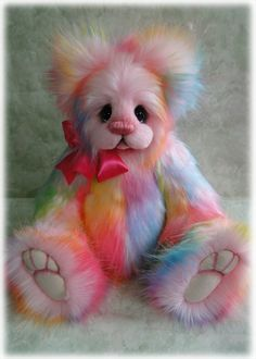 Harlequin Rose by Donna Hager of Hager Bears