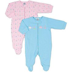 Gerber Sleep N' Play zipper outfits are great for going out or having playtime at home with baby. Our 3 pack bright assortment for her is made of 100% cotton with a pointelle texture pattern on the solids for added design, comfort and softness.
