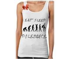 Pole dance tank top. $25.00, via Etsy.