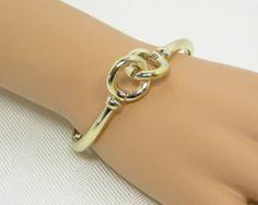 QVC 14k Yellow Gold Status Link Toggle Bracelet