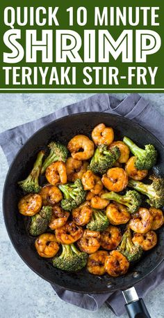 Quick 10 Minute Shrimp Teriyaki Stir-Fry - This is Similar to My Brocco . - Quick 10 Minute Shrimp Teriyaki Stir-Fry – This is similar to my broccoli beef recipe except that - Asian Recipes, Beef Recipes, Cooking Recipes, Healthy Recipes, Stir Fry Recipes, Recipies, Napa Cabbage Recipes, Dishes Recipes, Mexican Recipes