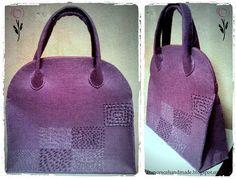 francescahandmade: Nuova borsa in feltro con istruzioni per la realiz...