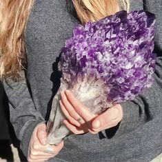 an insane cluster of amethyst crystals from Uruguay! from /r/NatureIsFuckingLit Minerals And Gemstones, Crystals Minerals, Rocks And Minerals, Stones And Crystals, Gem Stones, Natural Crystals, Cool Rocks, Beautiful Rocks, Beautiful Flowers