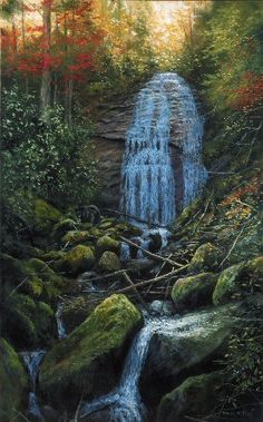Beautiful waterfall in the Smoky Mountains