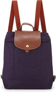 Longchamp Le Pliage Nylon Backpack, Bilberry