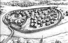 Medieval West Slavic gord (fortified settlement) in Spandau, disctrict of Berlin, Germany.