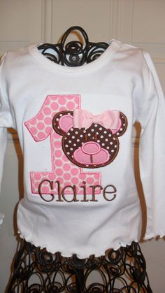 Boutique First Birthday Teddy Bear Applique by doodlebugdesigns34, $23.00