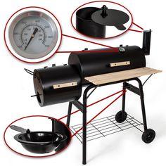TecTake BBQ BARBECUE SMOKER CARBONELLA GRIGLIA affumicatoio: Amazon.it: Giardino e giardinaggio