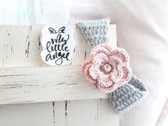 "Baby headband  ""my little angel accessories""  #crochetheadband #mylittleangel"