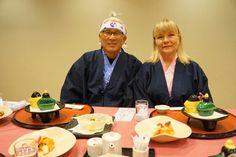 Kaiseki party with Samurai and Mrs  Samurai at Hotel Reigina Kawaguchiko
