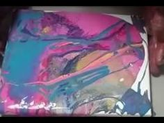 FUN TO PAINT BY POURING YOUR PAINTS WITH FLUID ACRYLICS - YouTube