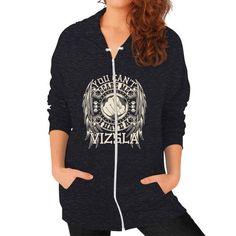 You can't scare me I have a Vizsla Zip Hoodie (on woman)