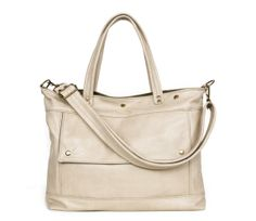 Leather Laptop Briefcase in Hummus Cream Leather - Archive Bag - Made to Order