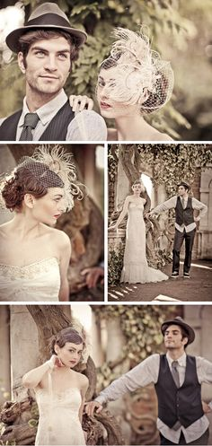 Love the toning of these photos and the detail.  Vintage Style Shoot at Hill Garden in London | WeddingWire: The Blog
