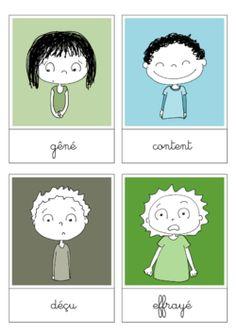 Rédaction : les sentiments et les émotions Des illustrations pour les sentiments et les émotions. D'autres dessins sur capuchon.eklablog.com !