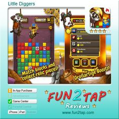 Little Diggers - Getting to the Bottom of Things. Full review at: http://fun2tap.com/index.cfm#id2154 --------------------------------------  #Apps  #Games #iPad #iPhone #Casualgames
