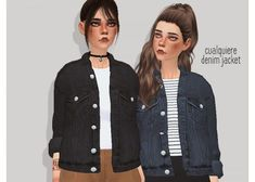 Pure Sims: Denim jacket • Sims 4 Downloads