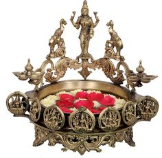 Ashta Lakshmi Urli [6300] - bronze statues, Indian Handicrafts, Indian Handicrafts Online