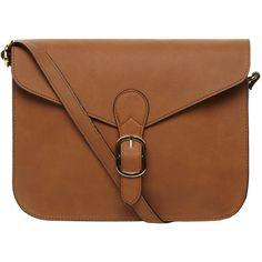 Dorothy Perkins Tan buckle satchel bag ($28) ❤ liked on Polyvore featuring bags, handbags, shoulder bags, accessories, purses, bolsas, brown, handbags purses, brown satchel bag and handbag satchel