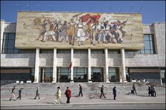 In front of the National Museum of History, Tirana, Albania
