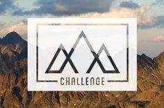 3 PEAK CHALLENGE / Logo for fictional week-long hiking event.
