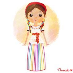 México colores y diseños de sus trajes típicos Tlaxcala