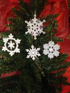 Snowflake Ornament Collection Combo by joanscrafts on Etsy