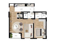 Apto de 1 dormitório de 53m² com suíte e terraço