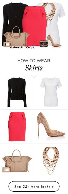 """H&M Skirt"" by amo-iste on Polyvore featuring Cotton Citizen, Theory, PESAVENTO, H&M, Balenciaga, Samantha Wills and Christian Louboutin"