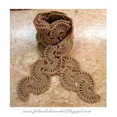 """""""FALANDO DE CROCHET"""": CACHECOL DE CROCHE (CROCHETED SCARF) (وشاح ، والكروشيه)(tørklæde hækling)(Schal häkeln)(bufanda de crochet)(foulard)(sjaal haak)( шарф)(scarf virka)"""