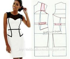 dress pattern, love the black and white contrast