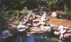 Great tips on pond/waterfall building. Waterfall Building, Waterfall Project, Diy Waterfall, Garden Waterfall, Pond Landscaping, Country Landscaping, Ponds Backyard, Backyard Ideas, Garden Ideas