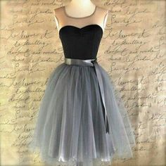 Round Neck Short Prom Dresses,Tulle Black Homecoming Dresses #SIMIBridal