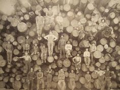 Vintage Lumberjacks, such a cool photo. This has to be one of the coolest photos I've ever seen.