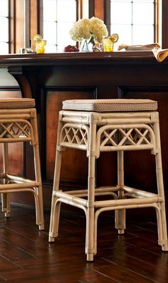 Evoking its namesake section of Maui, the Wailea Bar Stool imparts a casual, coastal vibe with seat caning and a rich palette of color options.