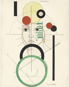 Francis Picabia (French, 1879-1953), Lampe, c.1923. Watercolour, brush and India Ink and pencil on paper.
