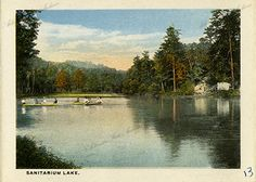 Sanitarium Lake in Eureka Springs, Arkansas  Arkansas State Archives G1244.19