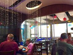 Rice restaurant off Limestone Road in the Milltown area has lighting that looks like falling rain. (Photo: Patricia Talorico/The News Journal)