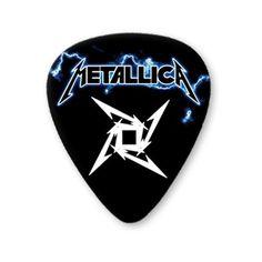 Metallica Star 5 X Premium Guitar Picks Medium Plectrums ($6.56) ❤ liked on Polyvore featuring guitar picks and music