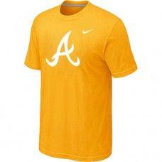 e782bfac0cdad Wholesale Men Atlanta Braves Heathered Blended Short Sleeve Yellow  T-Shirt Atlanta Braves T-Shirt