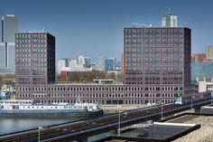 Schillernd und leuchtend Hagemeister Klinker verleiht Rotterdamer Gebäudekomplex lebendiges Fassadenbild.  Mit dem Neubau MUSA De Passie ist das erste Projekt der Revitalisierung eines ehemaligen Hafengebiets auf der Halbinsel Katendrecht in Rotterdam fertiggestellt. Das Eindhovener Architekturbüro diederendirrix hat das multifunktionale Gebäude auf Grundlage