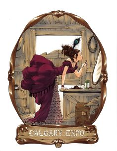 ruffled bustle. Saloon Girl by Amy Reeder Hadley! Comic Art
