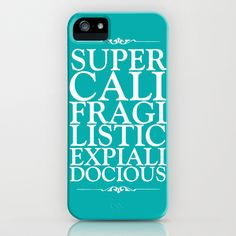 Supercalifragilisticexpialidocious - peacock iPhone & iPod Case by Zoe Ingram - $35.00