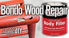 Repair Wood Furniture Using Bondo Filler. Today we are going to show you how to make wood repairs using bondo filler. The bondo repair is a great and long lasting solution to damaged wood. Bondo can be used to repair cracks, chips, dents and rot.