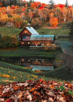 There was a gorgeous sight along every country road — one of the best sights being the famed Sleepy Hollow Farm. There are many pictures of it's beauty circulating around the internet. I think a visit to Woodstock every October would be a dream. Dm Foto, Foto Art, Woodstock Vermont, Autumn Scenes, Autumn Cozy, Autumn Fall, Autumn Leaves, Autumn Aesthetic, Fall Pictures
