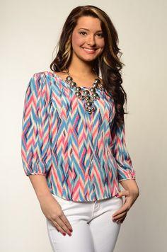 Pattern Me Up Top  KashCollection.Com  $34.99