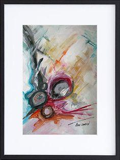 Rikke Laursen moderne abstrakte malerier | Malerier i glas og ramme