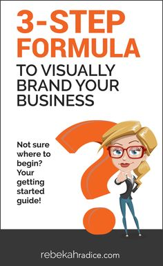 Para crear una marca visual de tu negocio o empresa, sigue estos 3 pasos. No dejes de lado el marketing visual de tu marca profesional. 3-Step Formula to Visually Brand Your Business