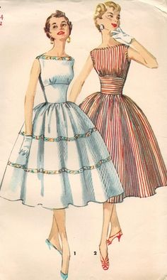 Amazing Sewing Patterns Clone Your Clothes Ideas. Enchanting Sewing Patterns Clone Your Clothes Ideas. Vintage Dress Patterns, Vintage 1950s Dresses, Vestidos Vintage, Clothing Patterns, Vintage Outfits, Moda Vintage, Vintage Diy, Vintage Decor, 1950s Fashion